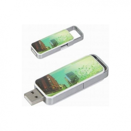 USB RETRACTABLE doming sur les 2 faces