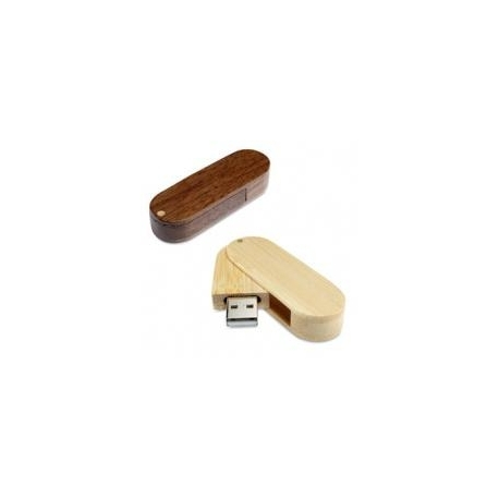 USB PIVOTANT BOIS FONCE